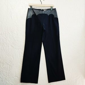 Elevenses {Anthropologie} Leather Trim Trousers